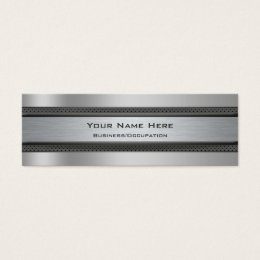 Metal grille business cards business card printing zazzle cool metal and carbon fibre look automotive mini business card reheart Choice Image