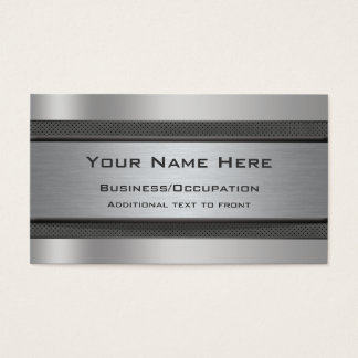 Cool Metal and Carbon Fibre Look Business Cards
