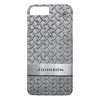 Cool Metal Diamond Cut Metallic Plate Pattern iPhone 8 Plus/7 Plus Case