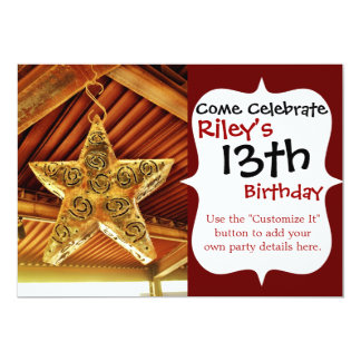Cool Metal Star Hanging Patio Light Fixture Personalized Invite