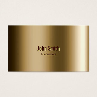 Cool Metallic Bronze Magician Business Card