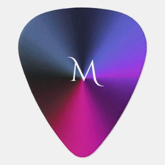 Cool Metallic Colors Monogram Guitar Pick