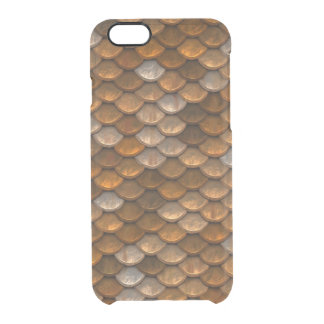 Cool Metallic Gold Scales Pattern Clear iPhone 6/6S Case