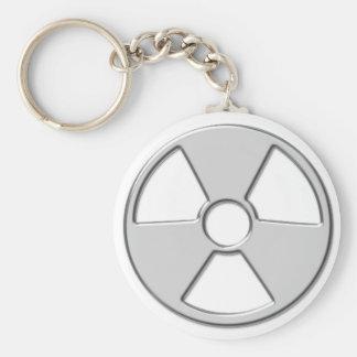 Cool Metallic Radioactive Radiation Symbol Key Ring