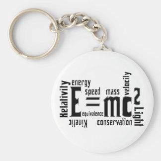 Cool Metallic Science Mass Equivalence Key Ring
