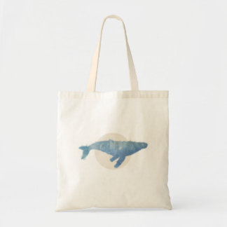 Cool / Minimal Humpback Whale Tote Bag