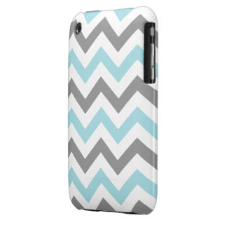 Cool Mint and Gray Chevron iPhone 3 Cover