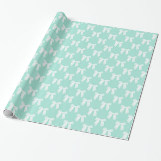 Cool Mint Pastel With White Bows
