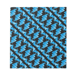 Cool Mirrored Geometric & Abstract Pattern Notepad