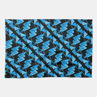 Cool Mirrored Geometric & Abstract Pattern Tea Towel