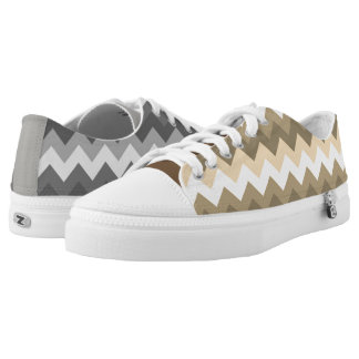 Cool Mismatched Zigzags Low Tops
