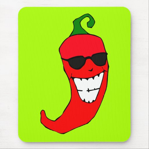 Cool Mister Red Hot Pepper Mousepads
