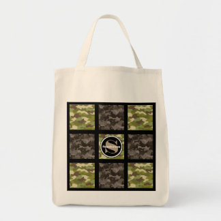 Cool Mixed Camouflage w/Monogram Tote Bag