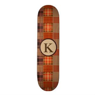 Cool Mixed Plaids 21.6 Cm Skateboard Deck
