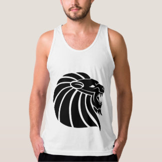 Cool MMA Lion tribal style tatto Singlet