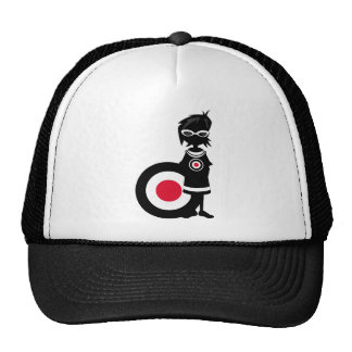 Cool Mod Girl and Roundel Target in Silhouette Hats