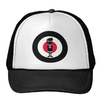 Cool Mod Girl and Roundel Target in Silhouette Hat