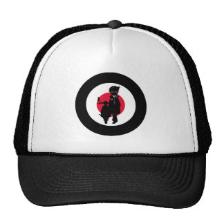 Cool Mod on Scooter in Silhouette Cap