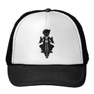Cool Mod on Scooter in Silhouette Hats