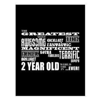 Cool Modern 2nd Birthdays Greatest 2 Year Old Post Card