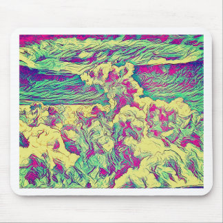 Cool Modern Artistic Abstract Cloud Formaion Mouse Pad