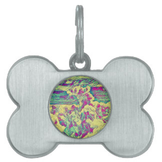 Cool Modern Artistic Abstract Cloud Formaion Pet ID Tag