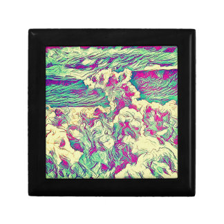Cool Modern Artistic Abstract Cloud Formaion Small Square Gift Box