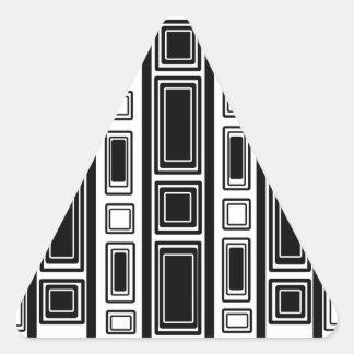 Cool modern black and white rectangle design triangle sticker