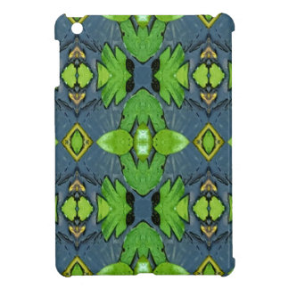 Cool Modern Blue Green Tribal Pattern Case For The iPad Mini