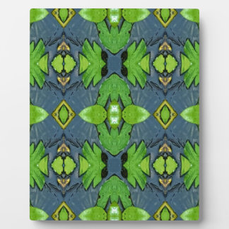 Cool Modern Blue Green Tribal Pattern Display Plaque