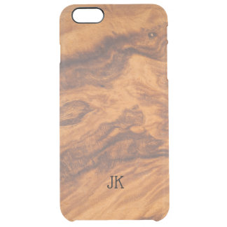 Cool Modern Brown Faux Wood Background No.2 Clear iPhone 6 Plus Case