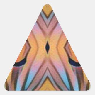 Cool Modern Chic Artistic Pattern Triangle Sticker