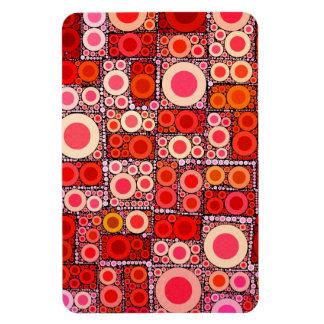 Cool Modern Circle Orange Red Mosaic Tile Rectangle Magnet