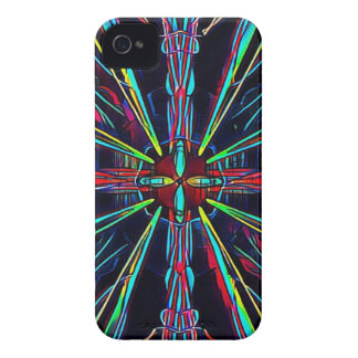 Cool Modern Colorful Neon Pattern Case-Mate iPhone 4 Cases