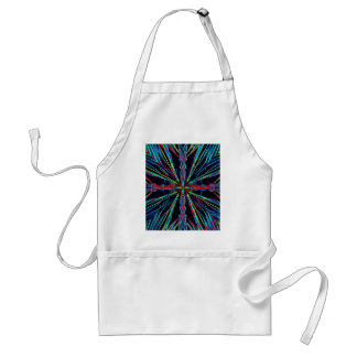 Cool Modern Colorful Neon Pattern Standard Apron