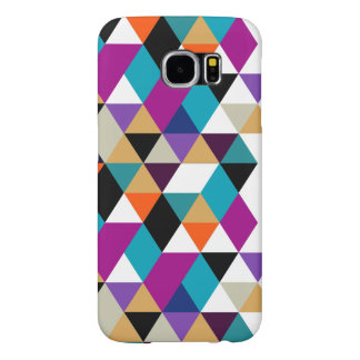 Cool Modern Colorful Triangles Pattern Samsung Galaxy S6 Cases