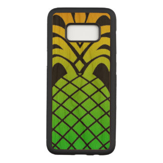 Cool Modern Design Pineapple On Black Background Carved Samsung Galaxy S8 Case