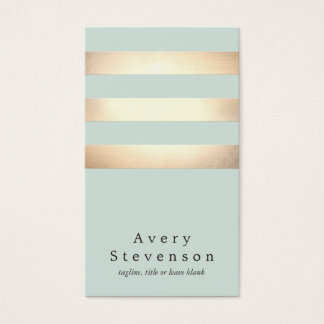 Cool Modern Faux Gold and Blue Stripes