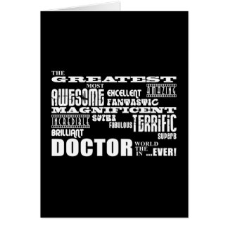 Cool Modern Fun Doctors Greatest Doctor World Ever Greeting Cards