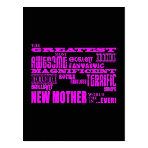 Cool Modern Fun New Mothers : Greatest New Mother Post Card