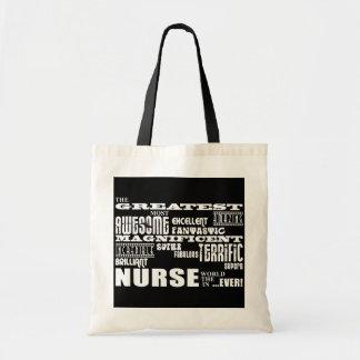Cool Modern Fun Nurses : Greatest Nurse World Ever Budget Tote Bag