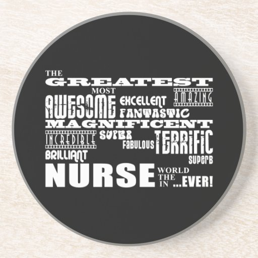 Cool Modern Fun Nurses : Greatest Nurse World Ever Beverage Coaster