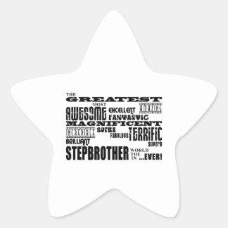 Cool Modern Fun Stepbrothers  Greatest Stepbrother Star Sticker