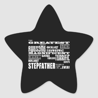 Cool Modern Fun Stepfathers : Greatest Stepfather Star Sticker