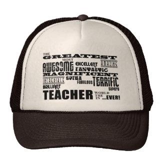 Cool Modern Fun Teachers : Greatest Teacher World Mesh Hats