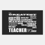 Cool Modern Fun Teachers : Greatest Teacher World Rectangle Stickers