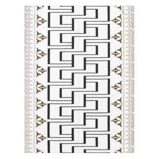 """Cool Modern Geo Pattern Cotton Tablecloth, 52""""x70"""" Tablecloth"""