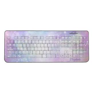 Cool Modern Girly, Sparkling-Personalized Wireless Keyboard
