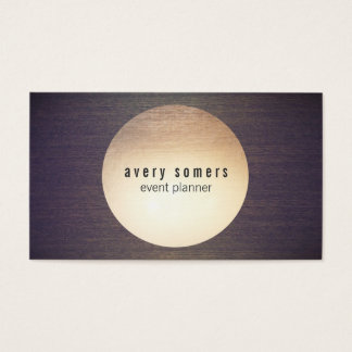 Cool Modern Gold Circle Wood Grain Business Card