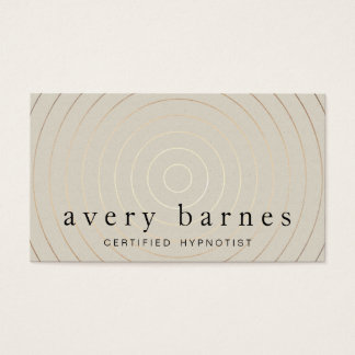 Cool Modern Gold Circles Tan Business Card